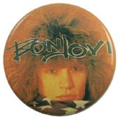 Bon Jovi - 'Jon with Flag' Button Badge